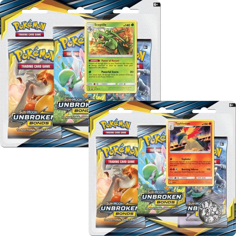Pokémon, SM Unbroken Bonds, Trippelblister x 2 (Sceptile + Typhlosion)