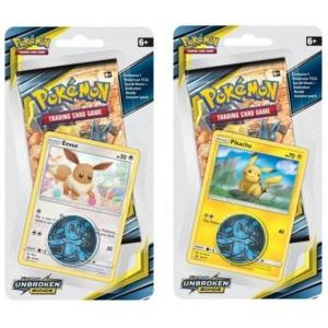 Pokémon, SM Unbroken Bonds, Checklane Blister Pack x 2 (Pikachu + Eevee)