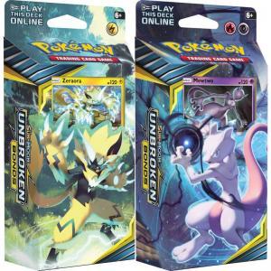 Pokémon, SM Unbroken Bonds, Theme Deck x 2 (Mewtwo + Zeraora)