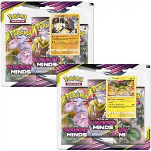 Pokémon, SM Unified Minds, Trippelblister x 2 (Stakataka + Vikavolt)