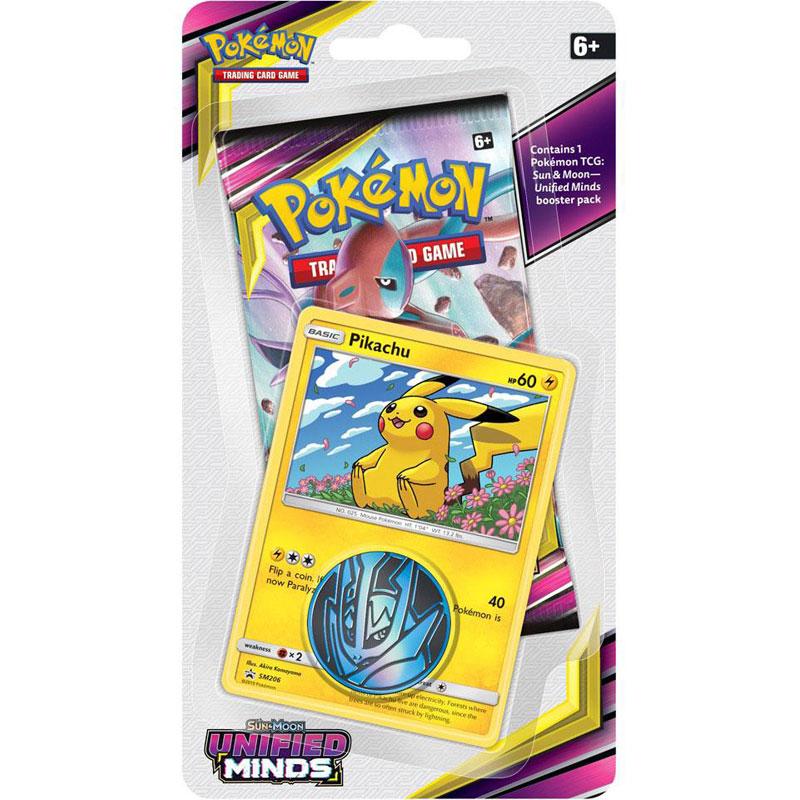 Pokémon, SM Unified Minds, Checklane Blister Pack: Pikachu