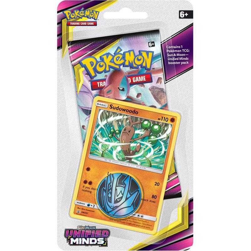 Pokémon, SM Unified Minds, Checklane Blister Pack: Sudowoodo