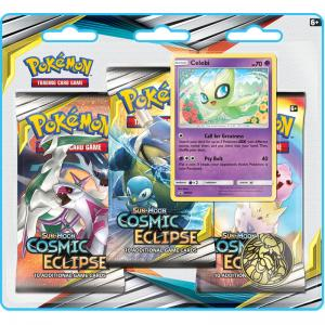 Pokémon, SM Cosmic Eclipse, Three Pack Blister: Celebi