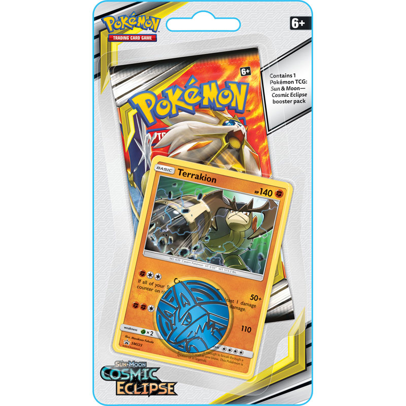 Pokémon, SM Cosmic Eclipse, Checklane Blister Pack: Terrakion