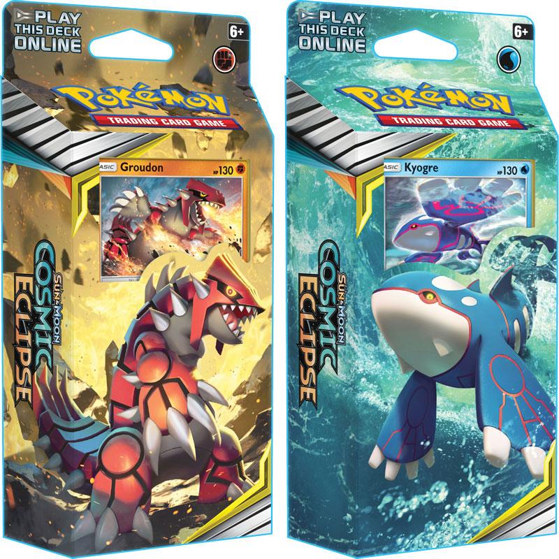 Pokémon, SM Cosmic Eclipse, Theme Deck x 2 (Groudon + Kyogre)