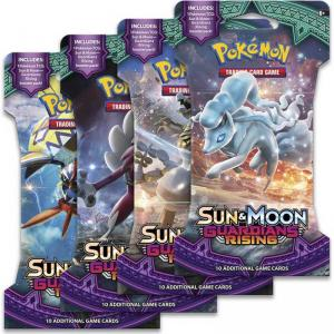 Pokémon, SM Guardians Rising, 4 Sleeved Boosters (Alla 4 motiv)