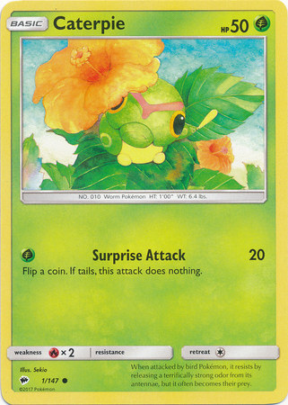 SM Burning Shadows, Caterpie - 1/147 - Common
