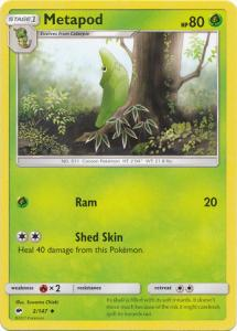 SM Burning Shadows, Metapod - 2/147 - Uncommon
