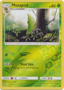 SM Burning Shadows, Metapod - 2/147 - Uncommon - Reverse Holo