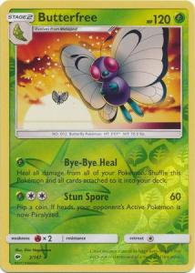 SM Burning Shadows, Butterfree - 3/147 - Rare - Reverse Holo
