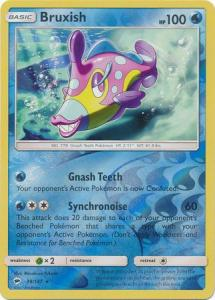 SM Burning Shadows, Bruxish - 38/147 - Rare - Reverse Holo