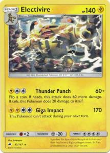 SM Burning Shadows, Electivire - 43/147 - Rare