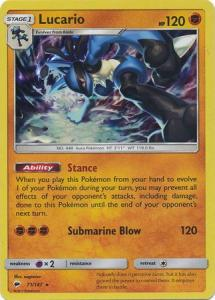SM Burning Shadows, Lucario - 71/147 - Holo Rare