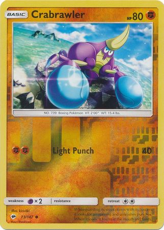 SM Burning Shadows, Crabrawler - 73/147 - Common - Reverse Holo
