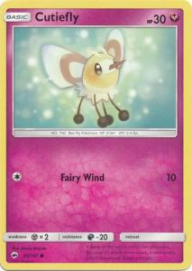 SM Burning Shadows, Cutiefly - 95/147 - Common