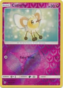 SM Burning Shadows, Cutiefly - 95/147 - Common - Reverse Holo