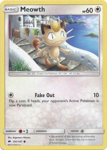 SM Burning Shadows, Meowth - 101/147 - Common