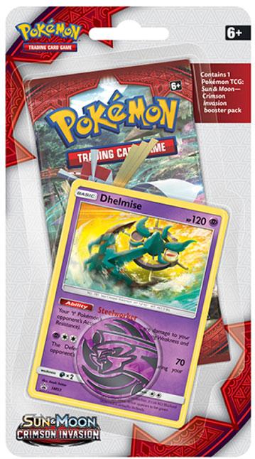 Pokémon, SM Crimson Invasion, 1 Checklane Blister Pack: Dhelmise