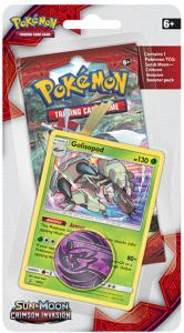 Pokémon, SM Crimson Invasion, 1 Checklane Blister Pack: Golisopod