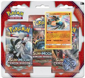 Pokémon, SM Crimson Invasion, Three pack blister: Lucario
