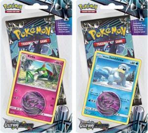 Pokémon, SM Ultra Prism, Checklane Blister Pack x 2 (Alolan Sandshrew + Kirlia)