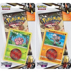 Pokémon, SM Forbidden Light, Checklane Blister Pack x 2 (Exeggcute + Rockruff)