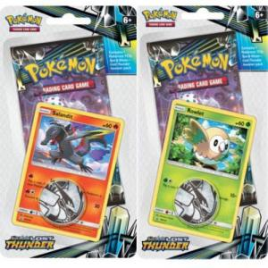 Pokémon, SM Lost Thunder, Checklane Blister Pack x 2 (Rowlet + Salandit)