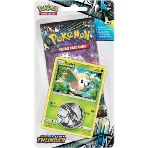 Pokémon, SM Lost Thunder, Checklane Blister Pack: Rowlet