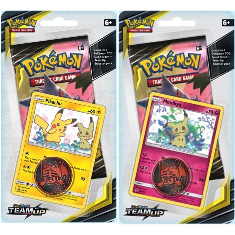 Pokémon, SM Team Up, Checklane Blister Pack x 2 (Pikachu + Mimikyu)