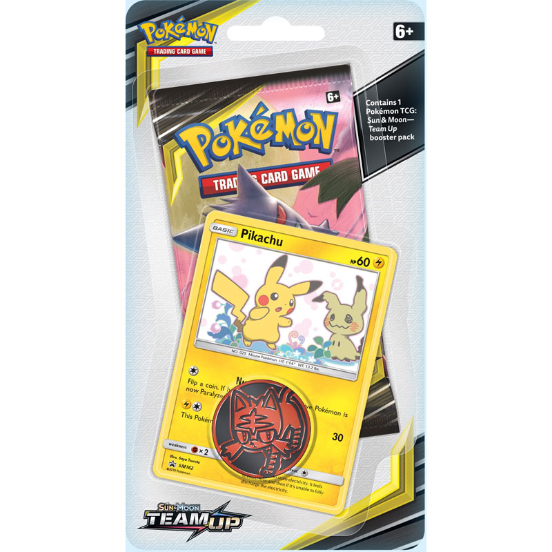 Pokémon, SM Team Up, Checklane Blister Pack: Pikachu