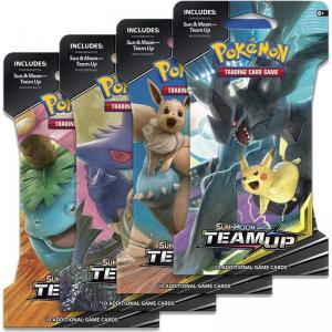 Pokémon, SM Team Up, 4 Sleeved Boosters (Alla 4 motiv)