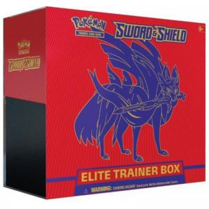 Pokémon, Sword & Shield, Elite Trainer Box: Zacian (Red)