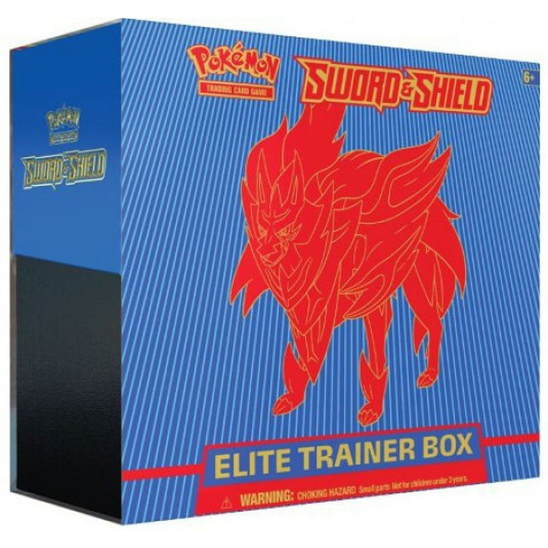 Pokémon, Sword & Shield, Elite Trainer Box: Zamazenta (Blue)