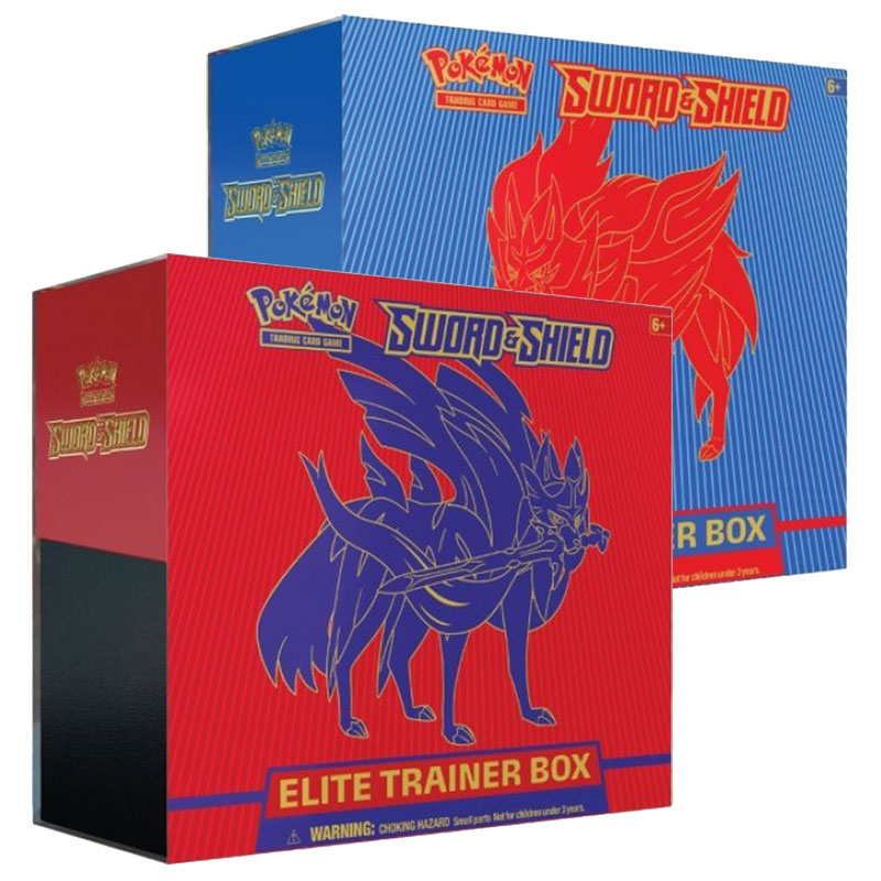 Pokémon, Sword & Shield, Elite Trainer Box x 2 (Röd + Blå)