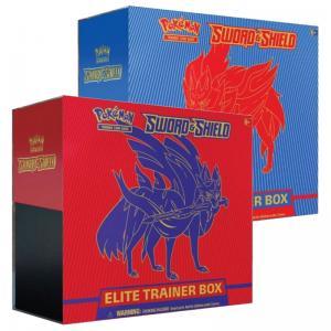 FÖRKÖP: Pokémon, Sword & Shield, Elite Trainer Box x 2 (Röd + Blå) (Preliminär release 7:e februari 2020)