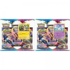 Pokémon, Sword & Shield, Three Pack Blister Pack x 2 (Galarian Ponyta + Morpeko)