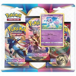 FÖRKÖP: Pokémon, Sword & Shield, Trippelblister: Galarian Ponyta (Preliminär release 7:e februari 2020)
