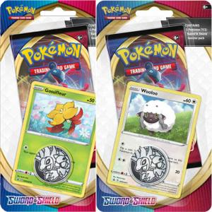 Pokémon, Sword & Shield, Checklane Blister Pack x 2 (Gossifleur + Wooloo)