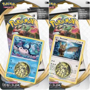 Pokémon, Sword & Shield 2: Rebel Clash, Checklane Blister Pack x 2 (Mantine + Noctowl)
