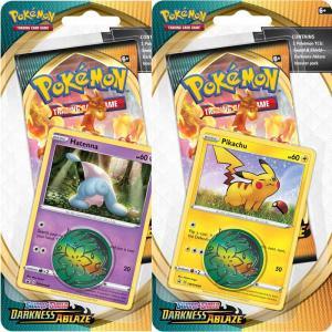Pokémon, Sword & Shield 3: Darkness Ablaze, Checklane Blister Pack x 2 (Hatenna + Pikachu)