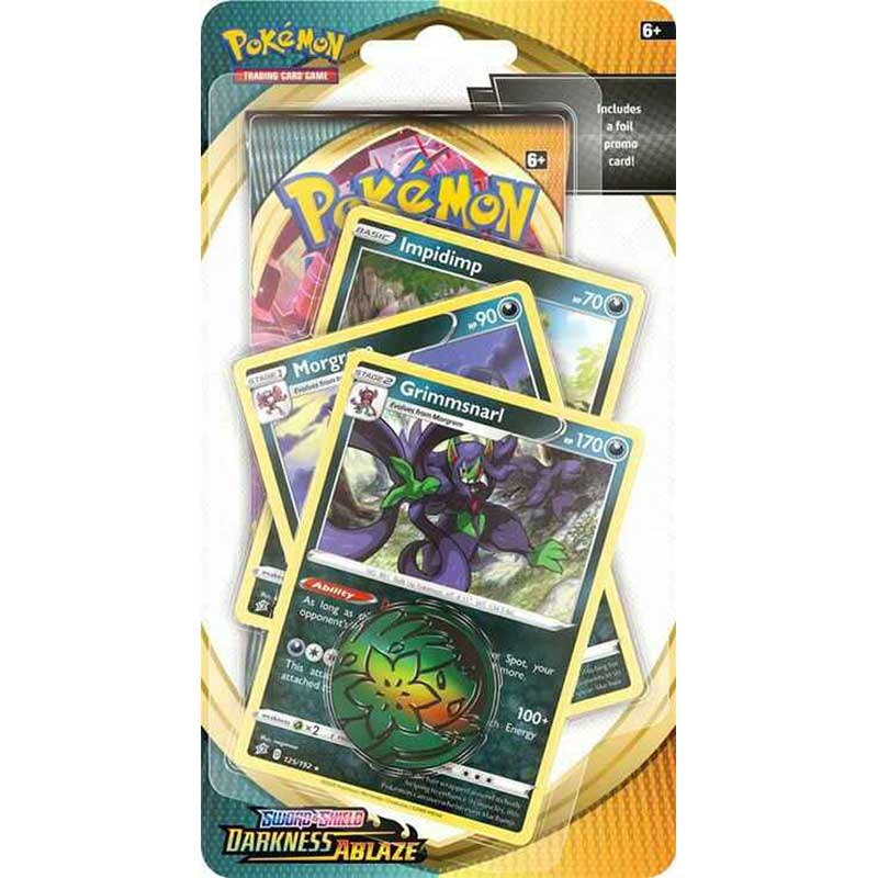 Pokémon, Sword & Shield 3: Darkness Ablaze, PREMIUM Checklane Blister Pack: Grimmsnarl