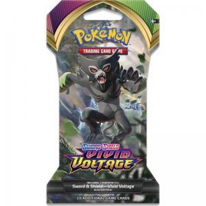 Pokémon, Sword & Shield 4: Vivid Voltage, 1 Sleeved Booster [Random art på sleeven]