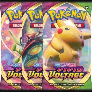 PRE-BUY: Pokémon, Sword & Shield 4: Vivid Voltage, 3 Boosters (Preliminary release November 13:th 2020)