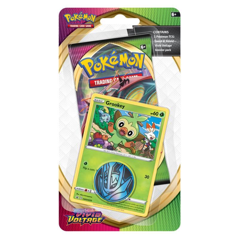 Pokémon, Sword & Shield 4: Vivid Voltage, Checklane Blister Pack: Grookey