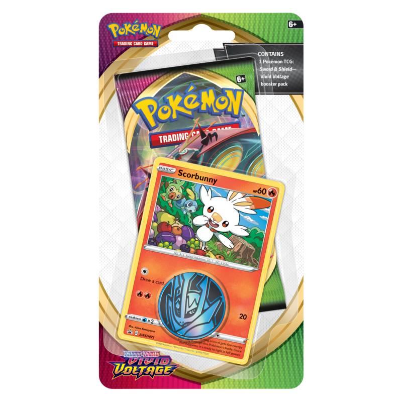 Pokémon, Sword & Shield 4: Vivid Voltage, Checklane Blister Pack: Scorbunny