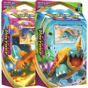 PRE-BUY: Pokémon, Sword & Shield 4: Vivid Voltage, Theme Deck x 2 (Charizard + Drednaw) (Preliminary release November 13:th 2020)