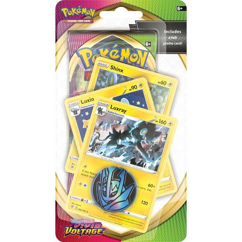 Pokémon, Sword & Shield 4: Vivid Voltage, PREMIUM Checklane Blister Pack: Luxray