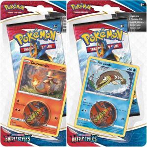 Pokémon, Sword & Shield 5: Battle Styles, Checklane Blister Pack x 2 (Arrokuda + Charmander)