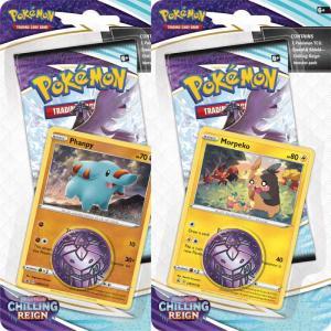 FÖRKÖP: Pokémon, Sword & Shield 6: Chilling Reign, Checklane Blister Pack x 2 (Phanpy + Morpeko) (Preliminär release 18:e juni 2021)