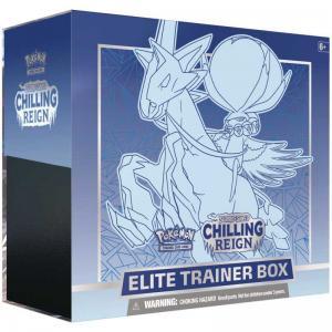 Pokémon, Sword & Shield 6: Chilling Reign, Elite Trainer Box: Ice Rider Calyrex [Blå]
